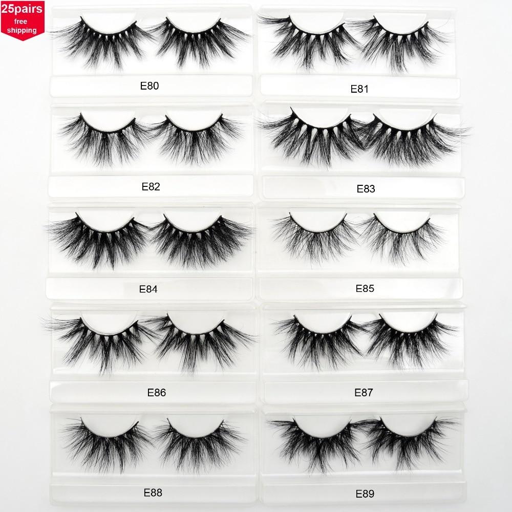 c75021d9874 Visofree 25 pairs/lot 25mm Lashes Mink Eyelashes Crisscross Dramatic 3D  Mink Lashes Volume Long False Eyelashes Handmade Lashes