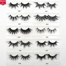 Visofree 25 pairs/lot 25mm Lashes Mink Eyelashes Crisscross Dramatic 3D Mink Lashes Volume Long False Eyelashes Handmade Lashes