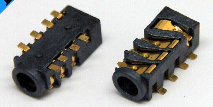 10 шт. 3.5 мм Женский аудио разъем 8 Булавки SMT SMD Разъем для наушников Разъем pj-393