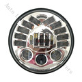 "7"" LED Adaptive Projector Daymaker Chrome / Black Headlight Harley Street Glide Softail"