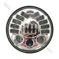 "7 ""LED Proyector De Adaptación Daymaker Cromado/Faro Negro Harley Street Glide Softail"