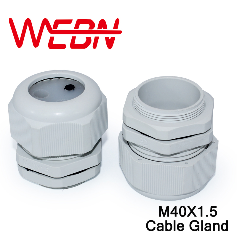 M40*1.5 IP68 Waterproof Nylon Plastic Cable Gland White Connector suitable for 22mm to 32mm wire 4pcs/pack