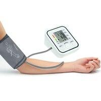 Monitores de presión arterial de brazo completamente automático bp tonómetro esfigmomanómetro electrónico digital de Pulso monitor de ritmo cardíaco