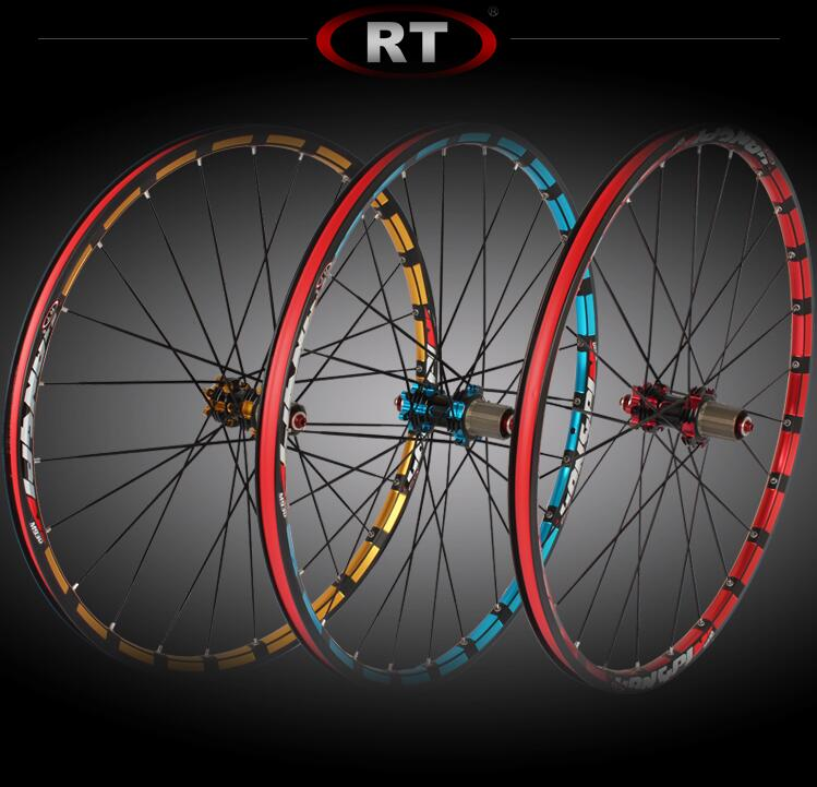 <font><b>RT</b></font> 2017 newest mountain bike bicycle Milling trilateral XC6 XC9 front 2 rear 5 bearing japan hub super smooth wheel <font><b>wheelset</b></font> image