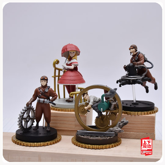 5pcs/set Simulation model toy scene DecorationSTEAMBOY ornaments pvc figure pvc figure the simulation model toy decoration tr ibe doll ornaments 9pcs set