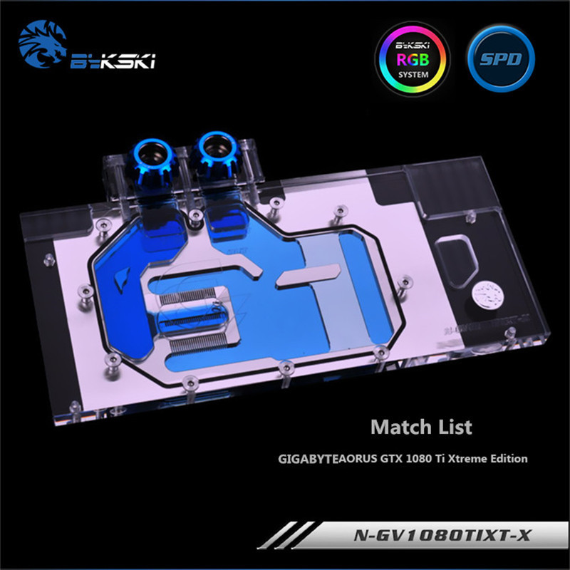 Bykski Full Cove GPU Water Block For VGA GIGABYTE AORUS GTX 1080 Ti Graphics Card N