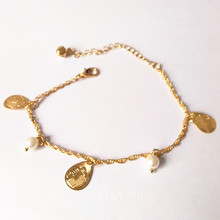 New Fashion Simulated-pearl Golden Queen Bracelet  Bracelets Gold Fine Bracelet Fine ankles Priced Direct Selling