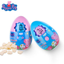 Original Peppa Pig Adventure Fun Egg Toy Cartoon Pattern Change Action Figure Model Milk Candy Snack Girl Children Birthday Gift цена и фото