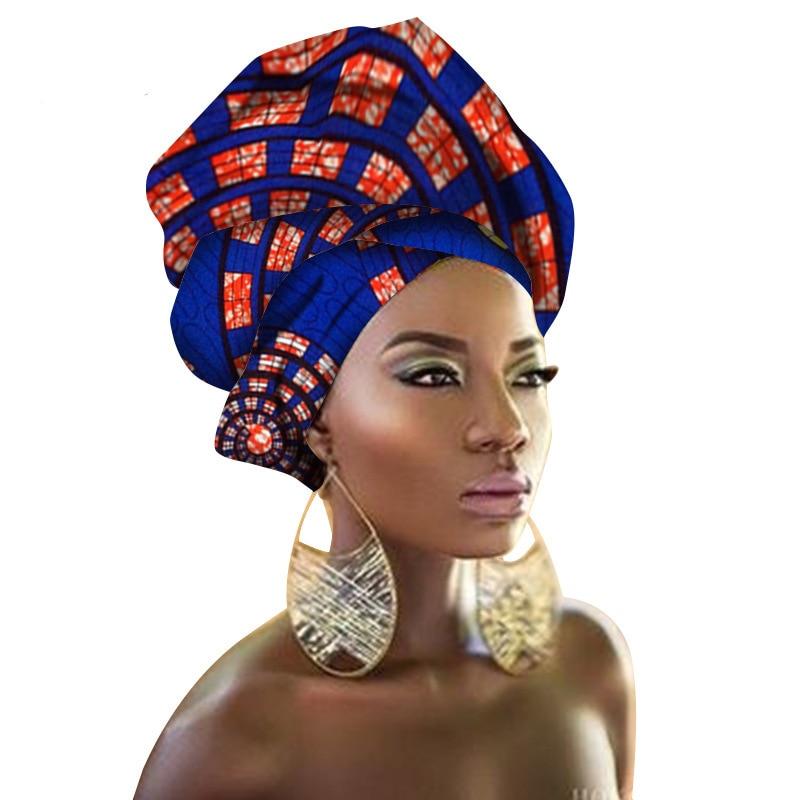Women African Head Wraps Traditional Head Wrap Handkerchief Scarf Kerchief Turban Dashiki Wax Fabric 100% Cotton 90*100cm headpiece