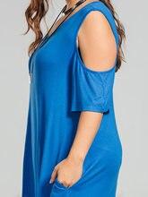 Plus Size XL-5XL Women Camo Print T-Shirt Dress Casual  Cold Shoulder Dress Big Size