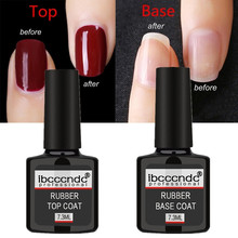 Top Base Coat Nail Primer UV LED Soak Off Gel Varnish Long Lasting Gel Nail Polish Top Coat And Base Coat For Nail Art