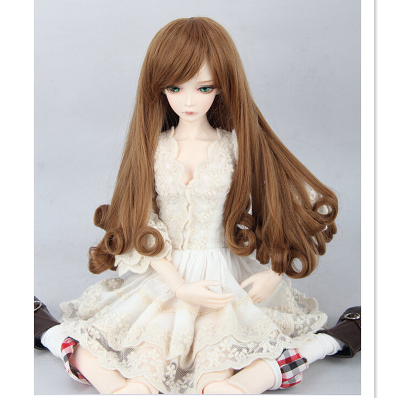 New Design Synthetic Doll Hair Long Curly Hair for Doll,1/3 BJD Wig High-temperature Wavy Wigs Accessories for Dolls synthetic hair wigs new available