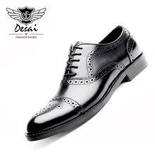 DESAI Genuine Leather Shoes Men Oxford Shoes
