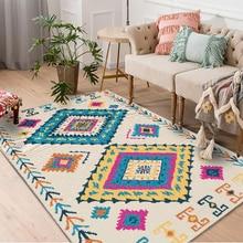 American national Wind soft room area rug Living table bedroom full bed bedside carpet apartment floor pad anti-skid washable