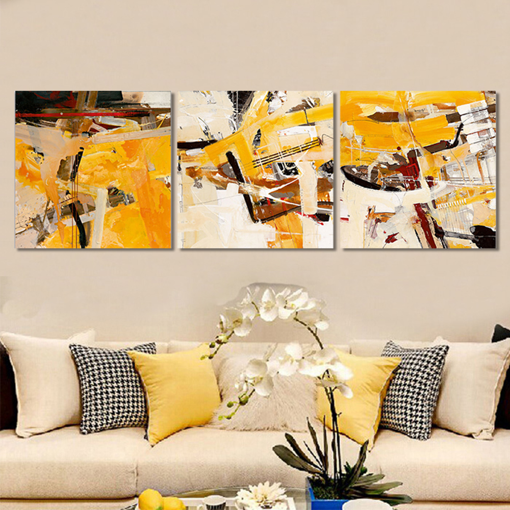Unframed Multiple Pieces HD Canvas Painting Abstract Brush Graffiti Prints Wall Pictures For Living Room Wall Art Decoration