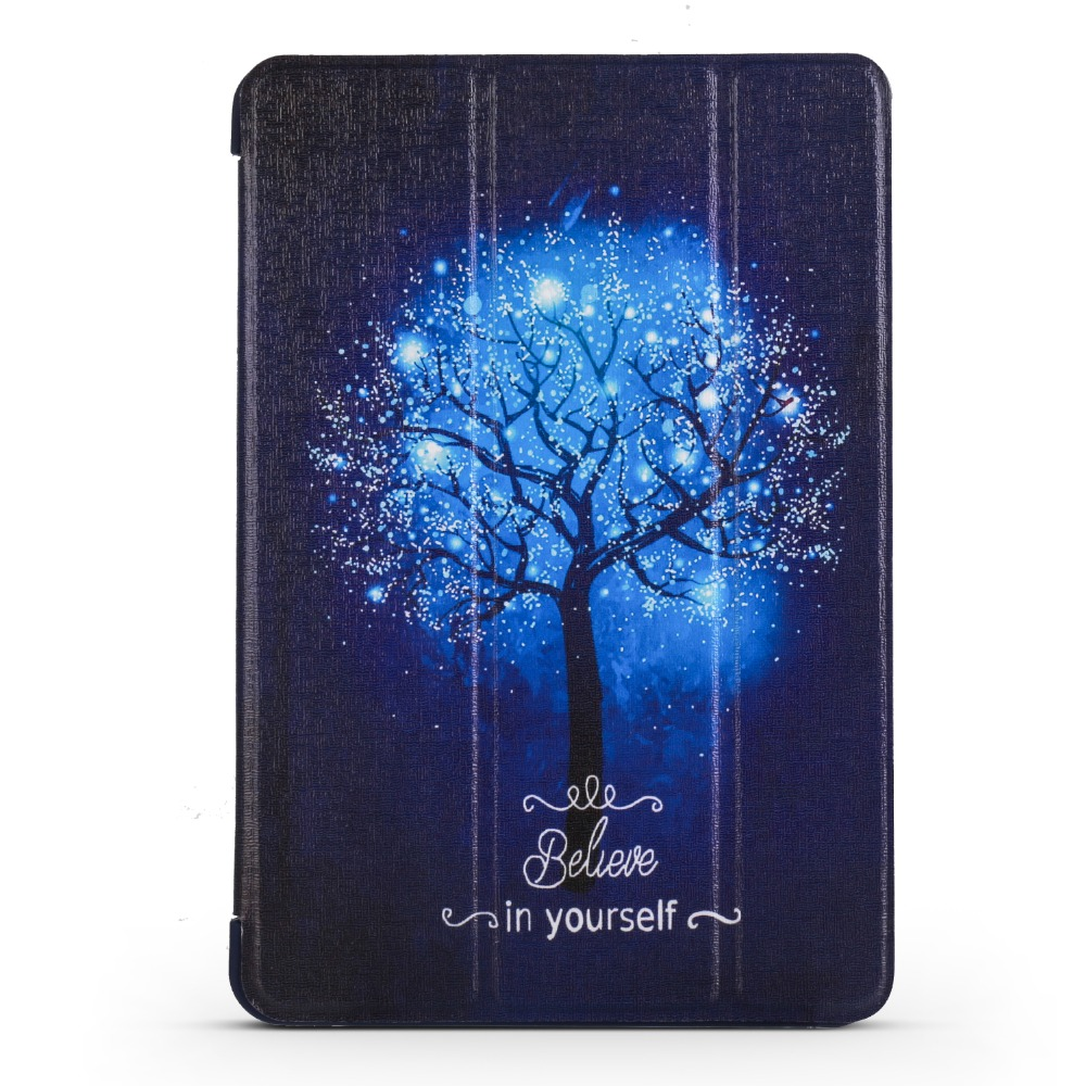 Case For Apple Ipad Mini 4 Smart Sleep Magnet Wake Up Color Painted Cover PU Leather Tablet TPU Soft Silicone Shell