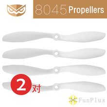 2Pairs OWLUAV 8045 8 x 4.5 Inch Props 8″ CW CCW Propeller 8 Inch White Propellers Without Bullet for FPV Multicopter Quad Drone