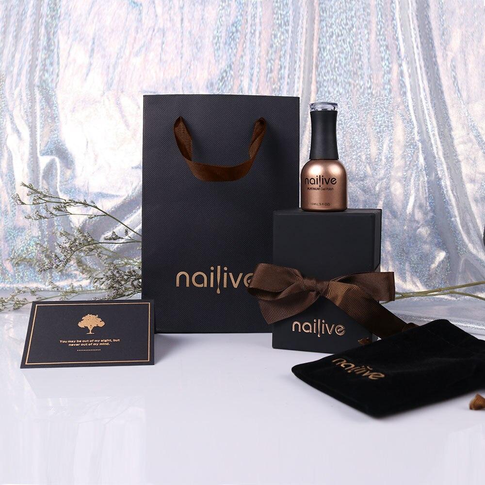 Gelike Newest 12 Colors 15ml Manicure Nail Art Design Varnish Gel Lacquer Glitter Sequins Platinum Peack Polish