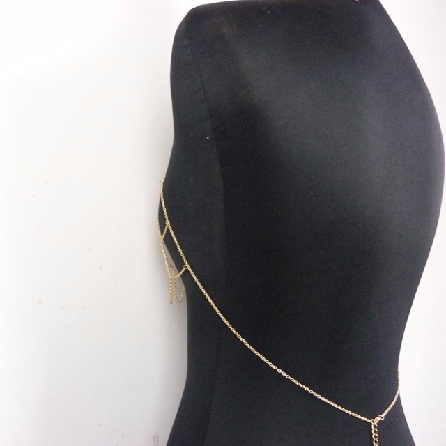 Bikini Bra Chain Golden Body Jewelry