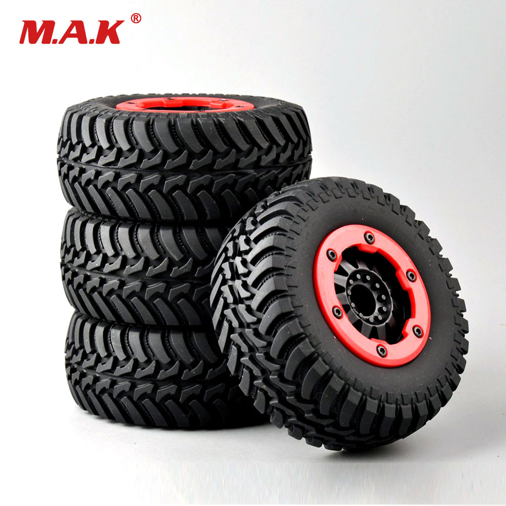 4pcs/ Set Tires&Bead-Lock Wheel 30004 For 1:10 RC Short Car Course Truck Motorbike TRAXXAS Slash 1 10 hq727 v2 traxxas slash short course truck parts number m0220 chassis