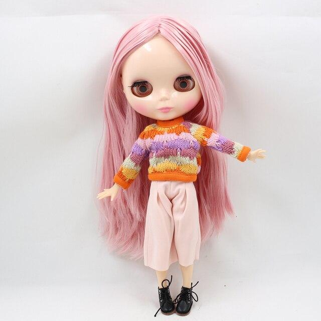 Blyth 1/6 Nude Doll JOINT body Black straight short Hair
