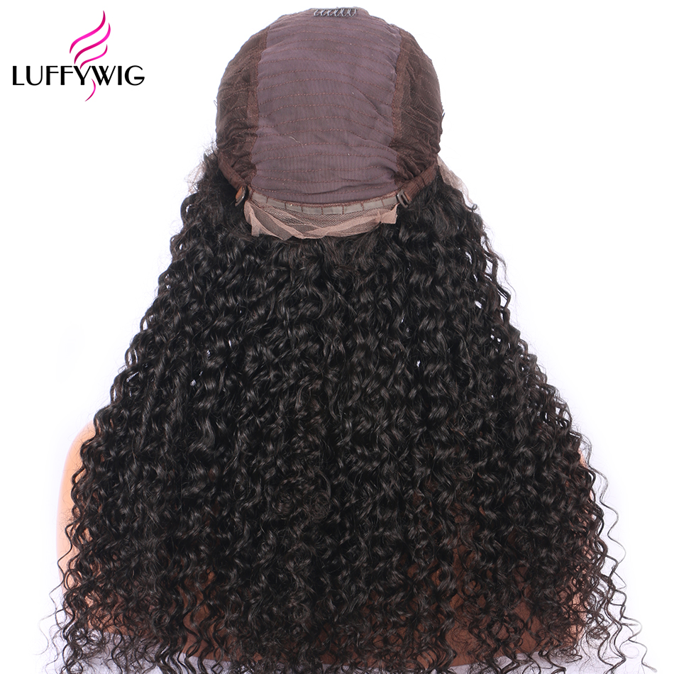 Luffy Hair Curly 13X6 Lace Front Wig Mongolian Human Hair 250% High Density Pre Plucked Front Lace Wig Deep Parting Baby Hair