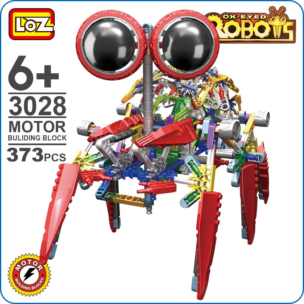 LOZ Robot Toy Motor Electronic Building Blocks Assembly Educational Spider Model Toys For Children Kids Gifts Series Bricks 3028 4pcs lot loz christmas gifts doraemon