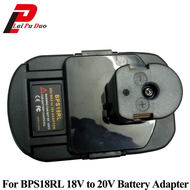 BPS18RL Battery Adapter For Black&Decker For Porter Cable For Stanley 20V Lithium Battery For Ryobi 18V P108 Battery Batteries