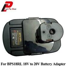 BPS18RL סוללה מתאם עבור שחור & Decker עבור פורטר כבל עבור סטנלי 20 V ליתיום סוללה עבור Ryobi 18 V p108 סוללה סוללות