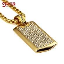 Ожерелье в стиле хип хоп для мужчин титановая сталь собачья