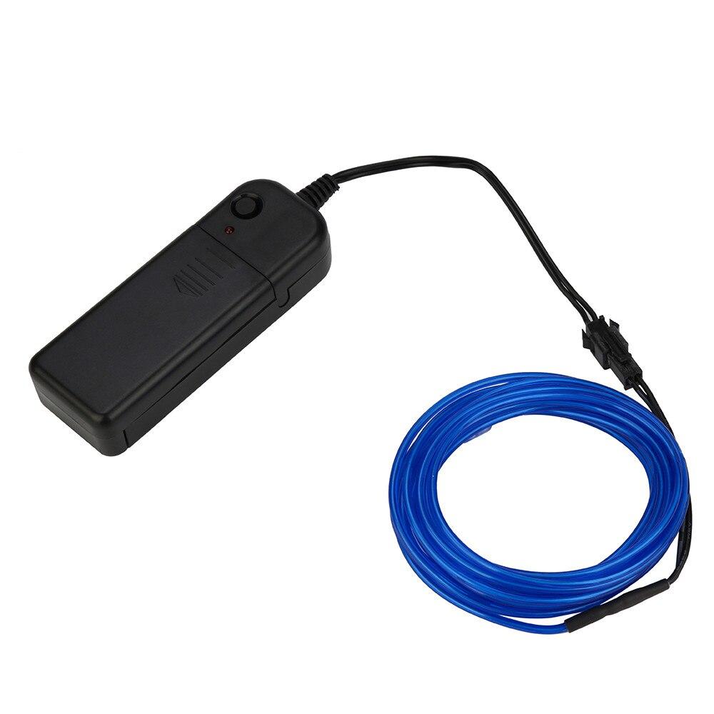 Batterie Betrieben Leucht Neon LED Lichter Leuchten EL Draht String ...