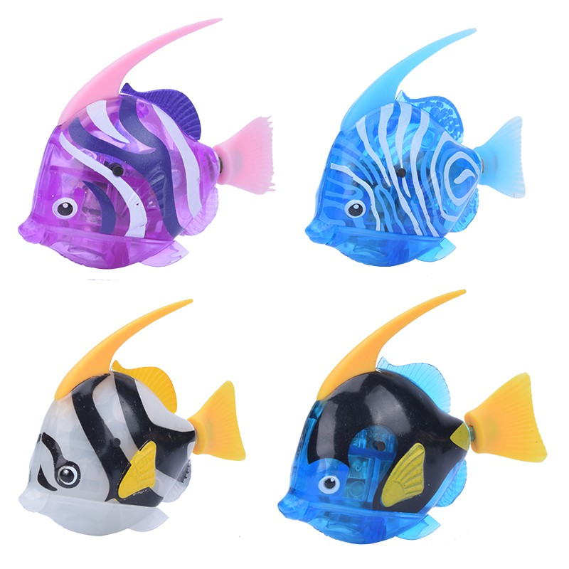 New Electronic Fish Ornanments Robot Rubber Pet Swimming Fish Toy ...