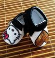 2016 New Hot Cute Pu Baby Moccasins Cuir Hello Kitty Heart Black Bow Baby Boys Girls Toddler Soft Sole Infant Kids Shoes 0-36M