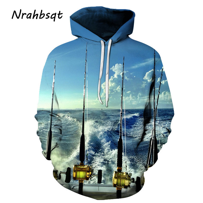 цена NRAHBSQT Outdoor Sport Hooded Fish Shirt Long Sleeves Anti-UV Breathable Fishing Clothing Fishing Sweatshirts Plus Size FC005