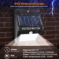 Светодиодный светильник-вспышка с солнечным датчиком, автоматический светильник, настенный светильник, водонепроницаемый уличный светиль...