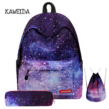 Women Starry Sky Print Backpack Casual Preppy Clound Gradient Colors Backpacks Fashion School Bag Bookbag for College Teen Girls