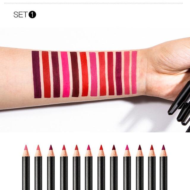 Brand μολύβι περιγράμματος χειλιών ματ μεγάλης διάρκειας απαλή μύτη μολύβι μακιγιάζ