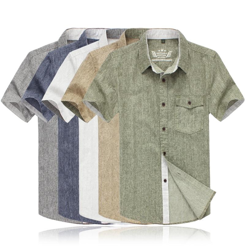 Mens Short Sleeve Linen Shirts