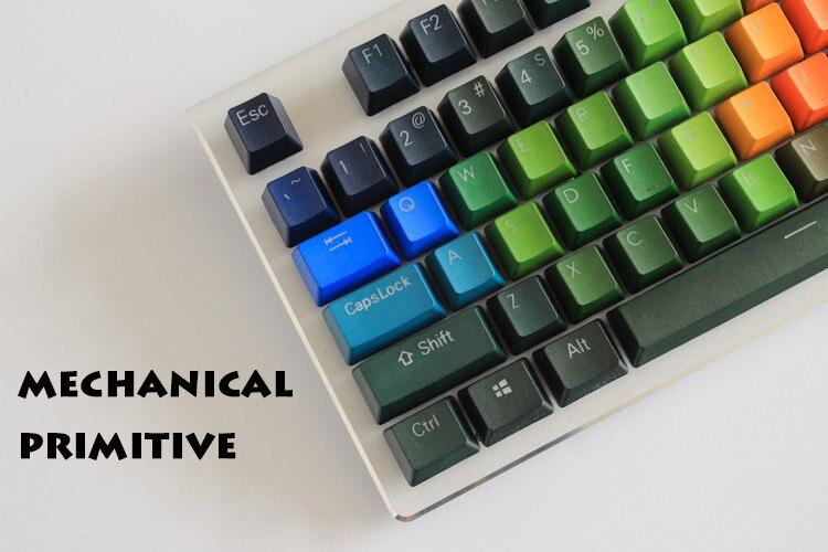 все цены на NEW ARRIVAL 108 Keys Keycaps Thickening PBT Double Shot Backlight Rainbow  Keycap For Cherry MX Switch  Mechanical Keyboard онлайн