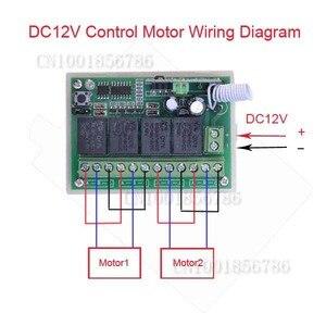 Image 4 - 4 kanal DC 12 V 4CH RF kablosuz uzaktan kumanda Anahtarı Sistemi 315 MHz 433 MHz Verici Ve Alıcı