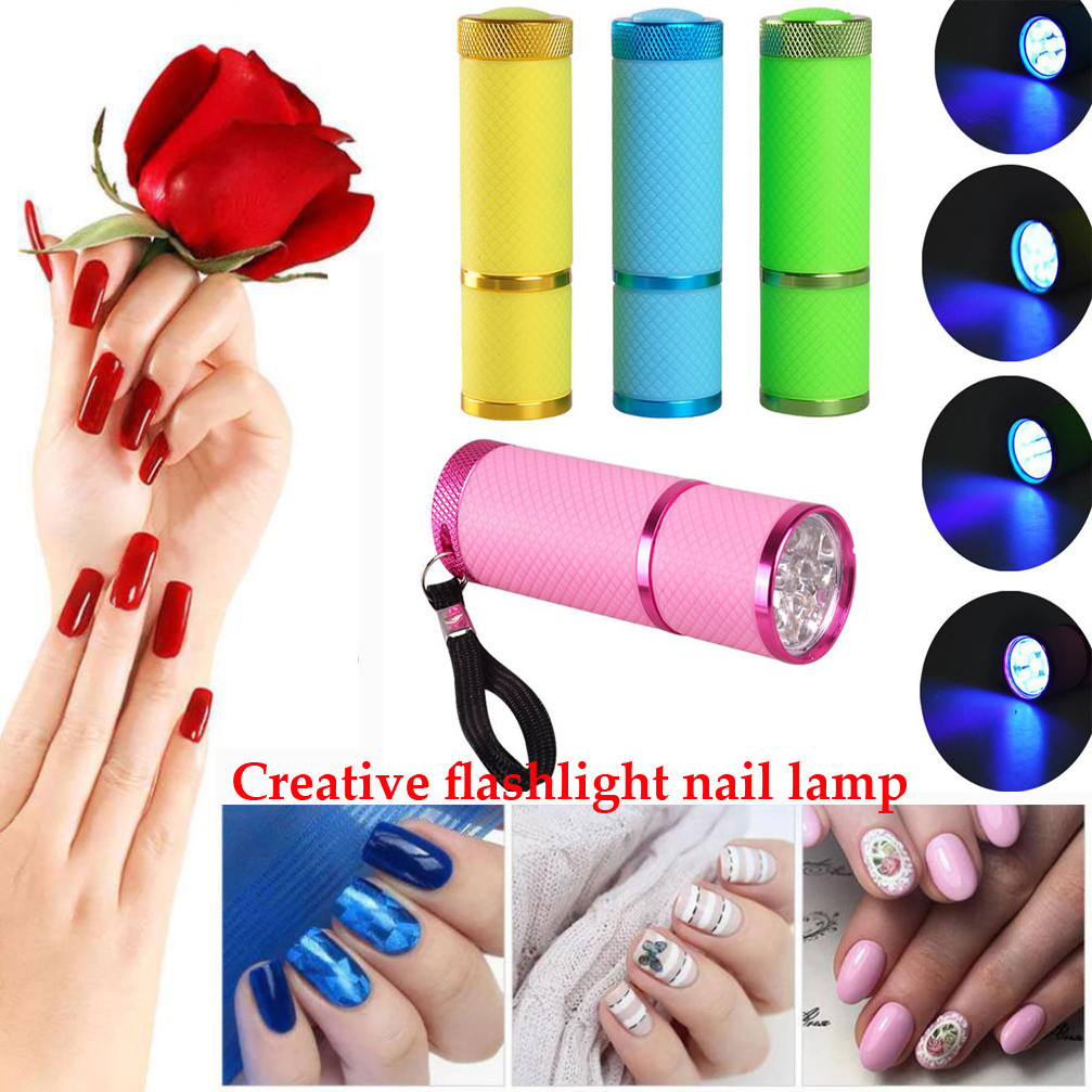 Discreet 2018 New Uv Gel Nail Flashlight Mini Led Uv Gel Curing Lamp Light Professional Dryer Fast Cure Nail Flashlight Torches Lamp Buy Now