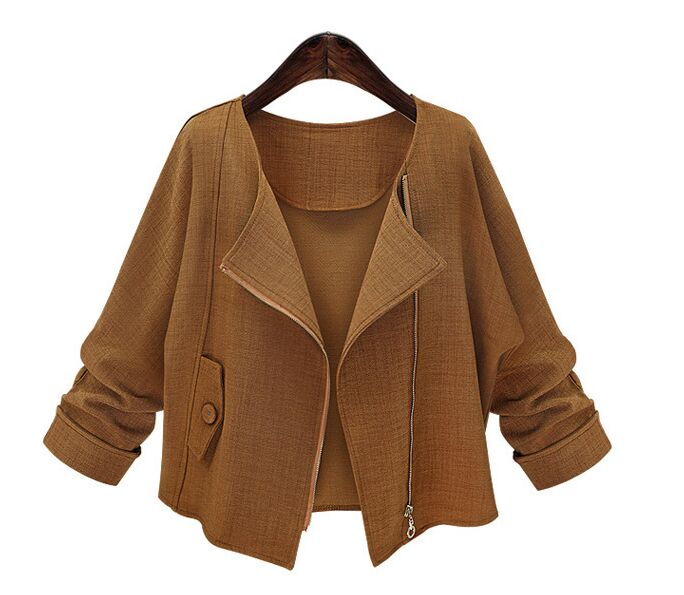 Popular Brown Cropped Jacket-Buy Cheap Brown Cropped Jacket lots ...
