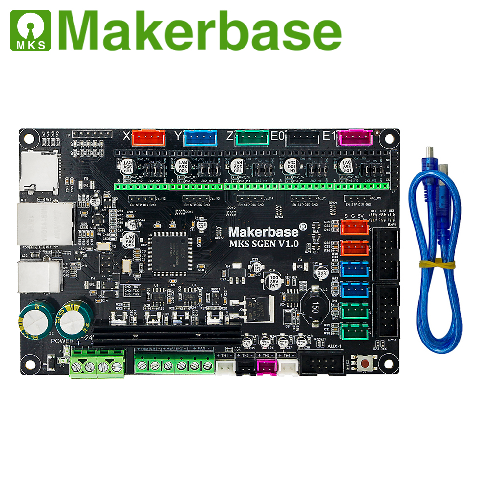 MKS SGen 32bit Placa de controlador que corre smoothieware firmware y apoya A4988/DRV8825/LV8729/TMC2208/TMC2100 paso a Paso conducir