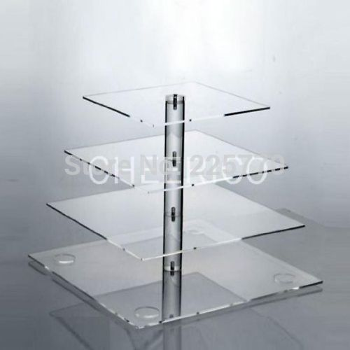 square 4 tier acrylic cake pop stand wedding cake stands acrylic