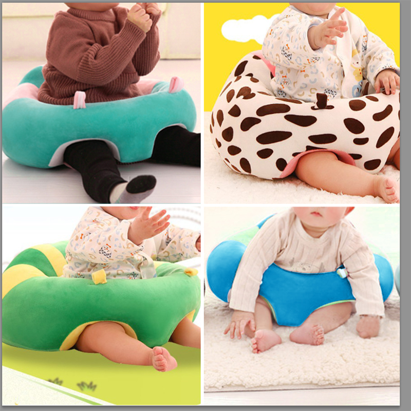Baby Seats Cartoon Animal Plush Filler Cushion Sofa Infants Car Travel Sit Feeding Support For Children Sit Trainer Dropshipping(China)