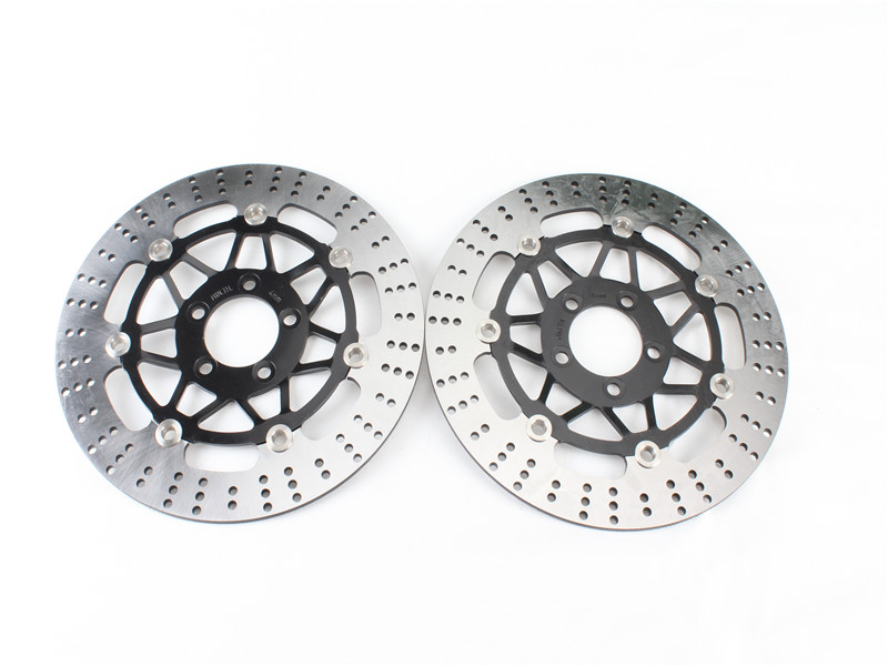 1 Set Motorcycle Front Brake Disc Rotor For Kawasaki ZL600 B1 Eliminator/ ZX6R ZX-6R (ZX 600 F1-F3) 1995-1997 96  free shipping dirt motorcycle front disc brake rotor for kawasaki kl250 super sherpa 1997 2007