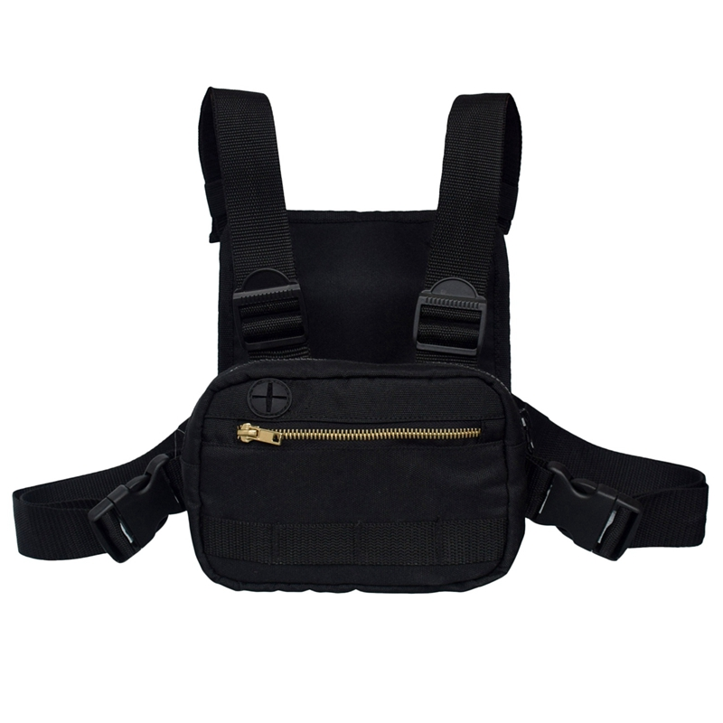 Mini Men Chest Rig Streetwear Outdoor Sports Waist Bag Climbing Shoulder Bag Phone Money Belt Chest Bag