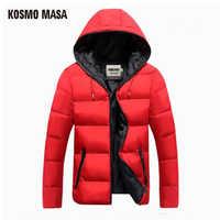 KOSMO MASA 綿 2017 フード付きのジャケットパーカー男性/女性秋冬カジュアル防風ジャケットコート男性の 4XL ダウンパーカー MP013