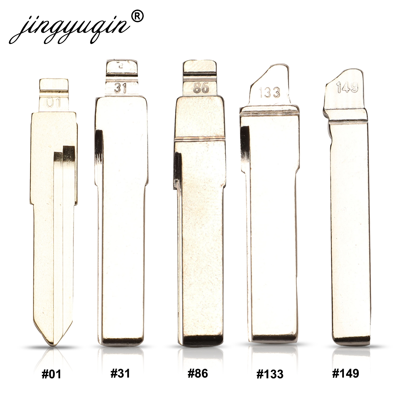 Jingyuqin #01 #31 #86 #133 #149 Car Key Blade For Audi VW Polo Passat B5 Tiguan Golf Santana Bora Seat Skoda HU66 Auto Key Blank