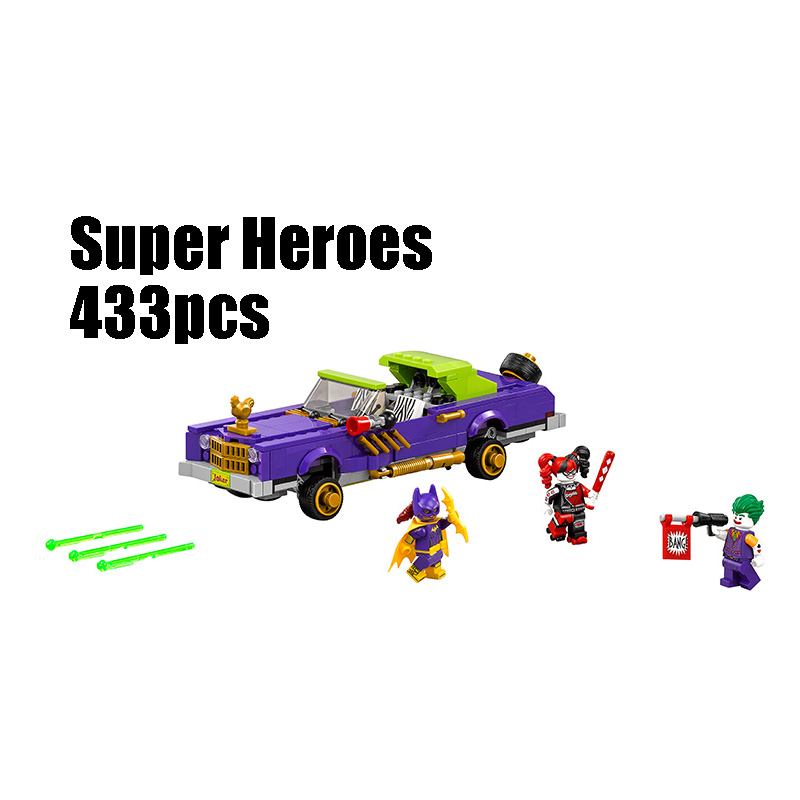 Compatible Legoe batman 70906 Lepin 07046 super heroes blocks The Joker's Notorious Lowrider toys for children building blocks decool 7118 batman chariot super heroes of justice building block 518pcs diy educational toys for children compatible legoe